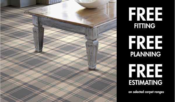 Free Fitting on a selected range of Carpets